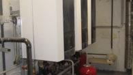 3 db Rendamax Q= 100.000 W kondenzációs kazán telepítése – Tricox kéménnyel- központi légellátással hőközponttal kompletten